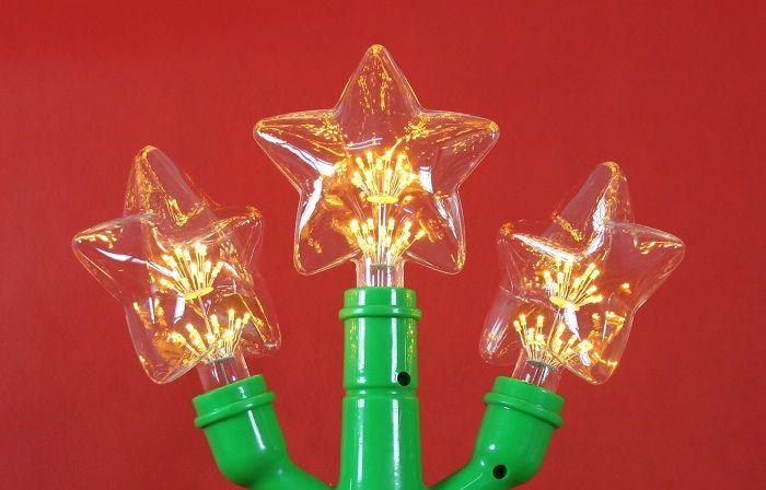 Bóng đèn led trang trí pháo hoa hình ngôi sao, đèn trang trí độc đáo
