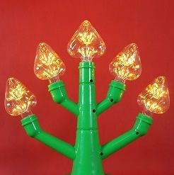 Bóng đèn led trang trí pháo hoa hình trái tim, đèn trang trí độc đáo