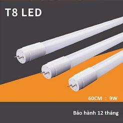 Bóng đèn tuýp Led T8 60cm 9w thủy tinh, bóng đèn tuýp led siêu sáng