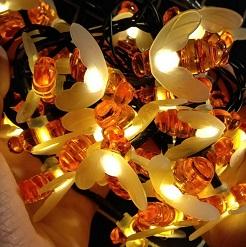 Dây đèn led đom đóm 7 mét 50 bóng, dây đèn trang trí ngoài trời, trong nhà