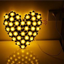 Đèn Led trái tim hoa hồng, đèn trang trí phòng ngủ, đèn trang trí tiệc