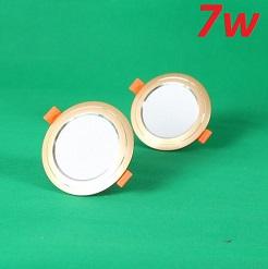 Đèn Led âm trần đổi màu 7w vỏ vàng, đèn trang trí giá rẻ
